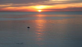 Soluppgång över Medelhavet